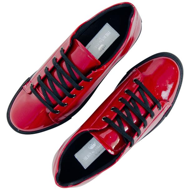 Piper Fire Red Patent Leather Low Top Sneakers thumb #2