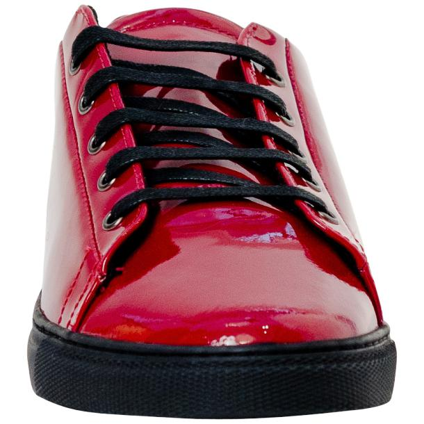 Piper Fire Red Patent Leather Low Top Sneakers thumb #3