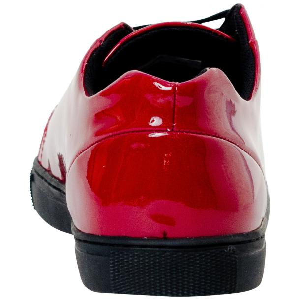 Piper Fire Red Patent Leather Low Top Sneakers thumb #5