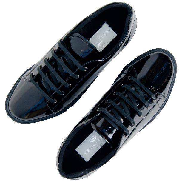 Pacino Black Patent Leather Low Top Sneakers  full-size #2