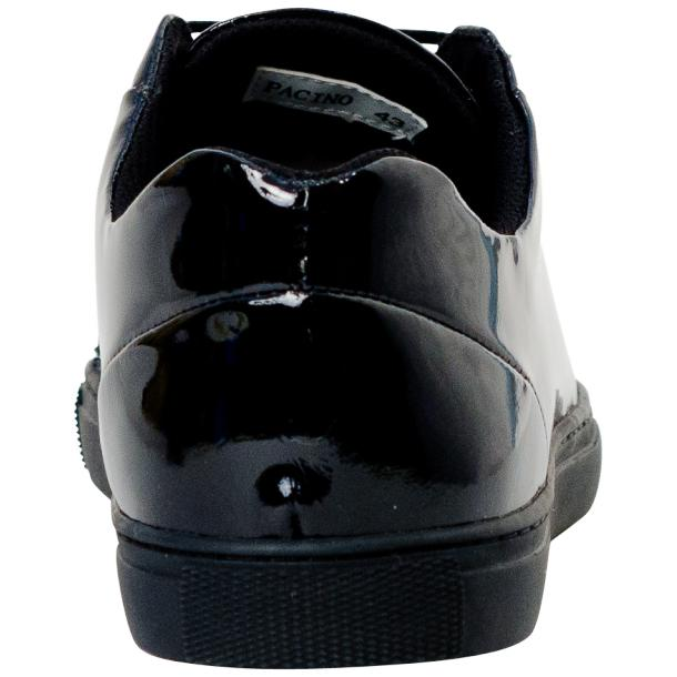 Pacino Black Patent Leather Low Top Sneakers  thumb #5