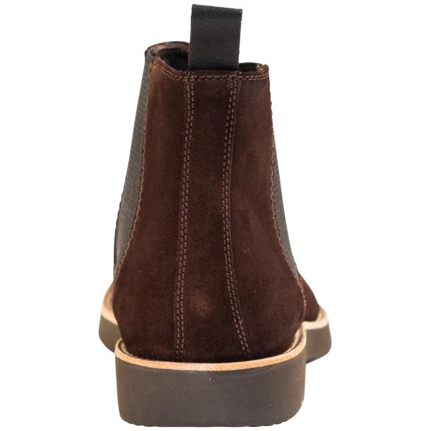 Rick Chocolate Brown Suede Chelsea Pull on Boots  thumb #5