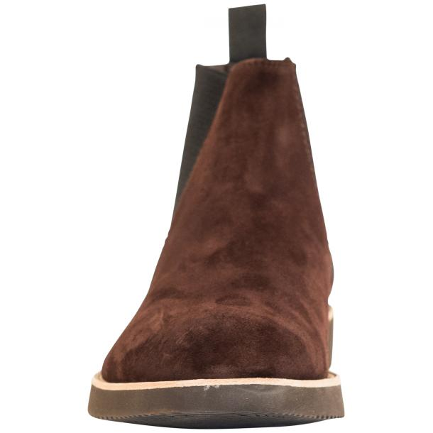 Rick Chocolate Brown Suede Chelsea Pull on Boots  thumb #3
