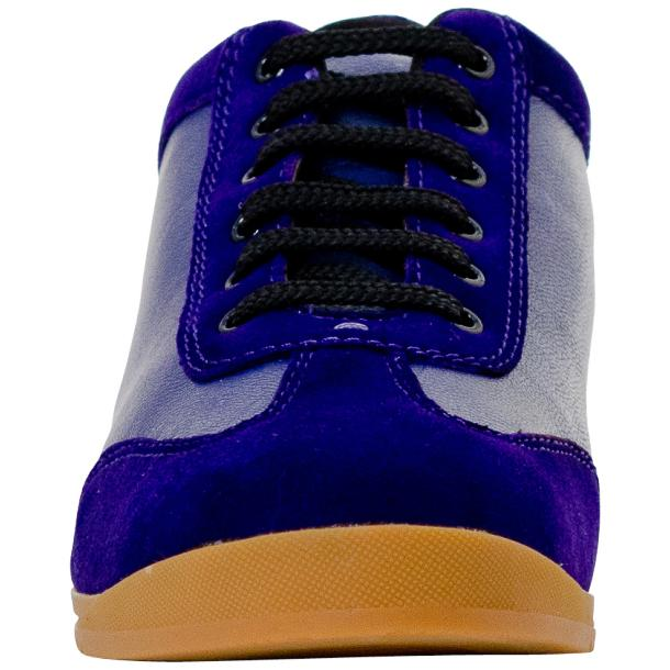 Gia Royal Blue Two Tone Nappa Leather Low Top Sneakers  thumb #3