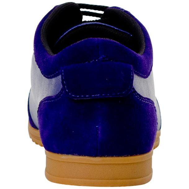 Gia Royal Blue Two Tone Nappa Leather Low Top Sneakers  thumb #5