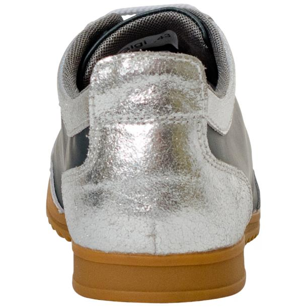 Gia Two Tone Silver Nappa Leather Low Top Sneakers thumb #5