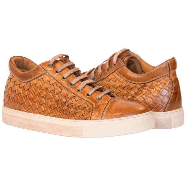 Kai Dip Dyed Brown Woven Low Tops full-size #1