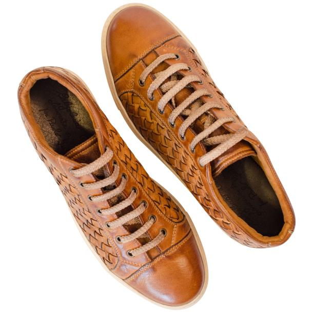 Kai Dip Dyed Brown Woven Low Tops thumb #2