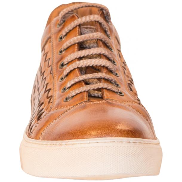 Kai Dip Dyed Brown Woven Low Tops thumb #3
