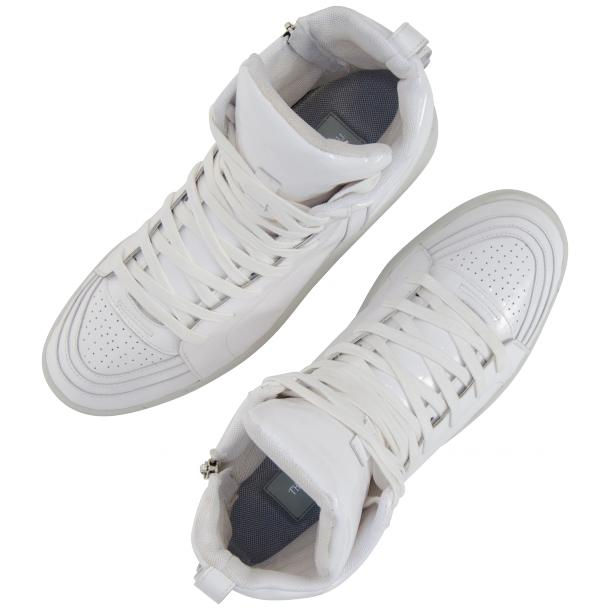 Breakin' Royal White Patent Leather High Top Sneakers thumb #2