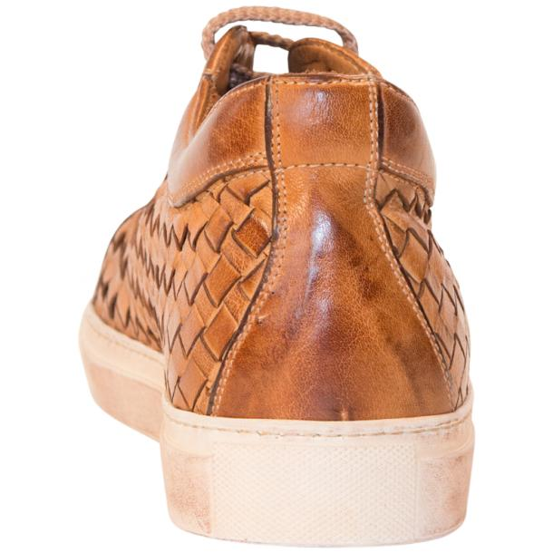 Kai Dip Dyed Brown Woven Low Tops thumb #5