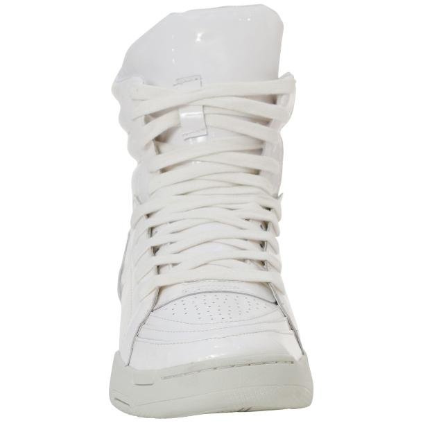Breakin' Royal White Patent Leather High Top Sneakers thumb #3