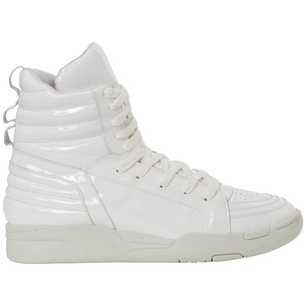 Breakin' Royal White Patent Leather High Top Sneakers thumb #4
