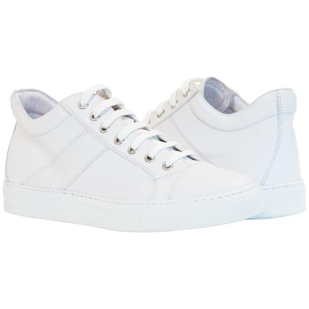 Seth Dip Dyed White Low Top Sneakers  full-size #1