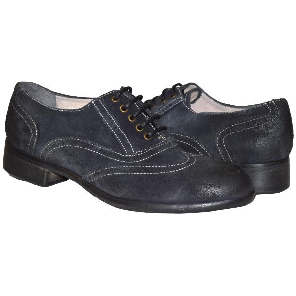 Denise Dip Dyed Graphite Wingtip Oxfords full-size #1