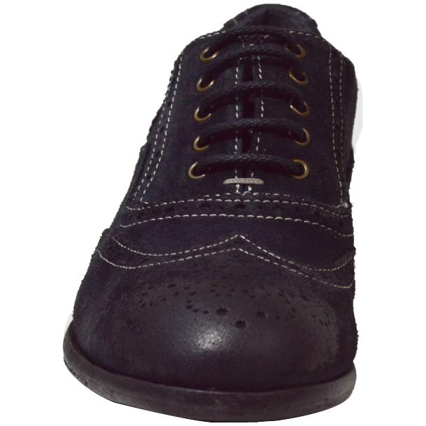 Denise Dip Dyed Graphite Wingtip Lace Up Nubuck Oxford Shoes thumb #2