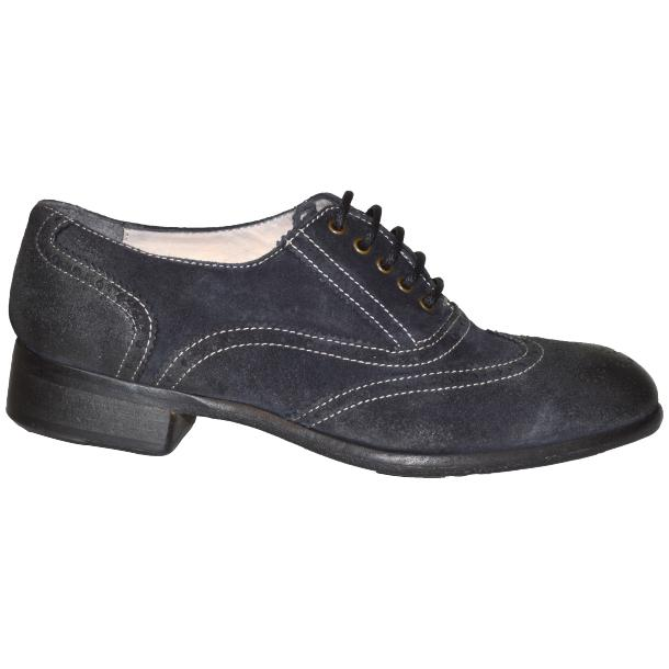 Denise Dip Dyed Graphite Wingtip Lace Up Nubuck Oxford Shoes thumb #3