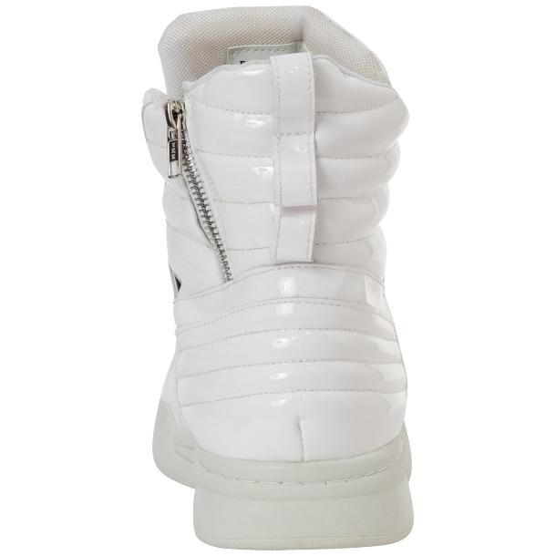 Breakin' Royal White Patent Leather High Top Sneakers thumb #5