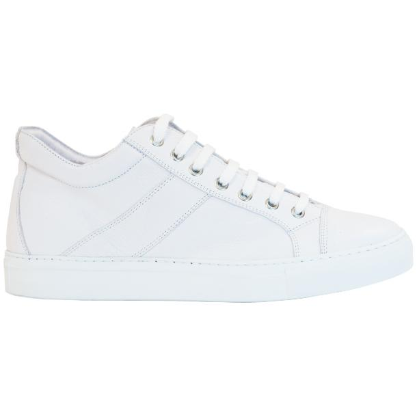 Seth Dip Dyed White Low Top Sneakers  thumb #4