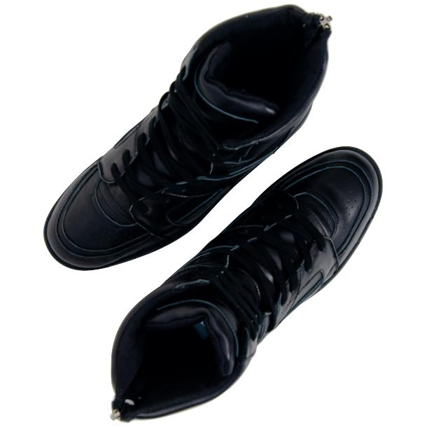Roxanne Engine Black Nappa Leather High Top Sneakers thumb #2