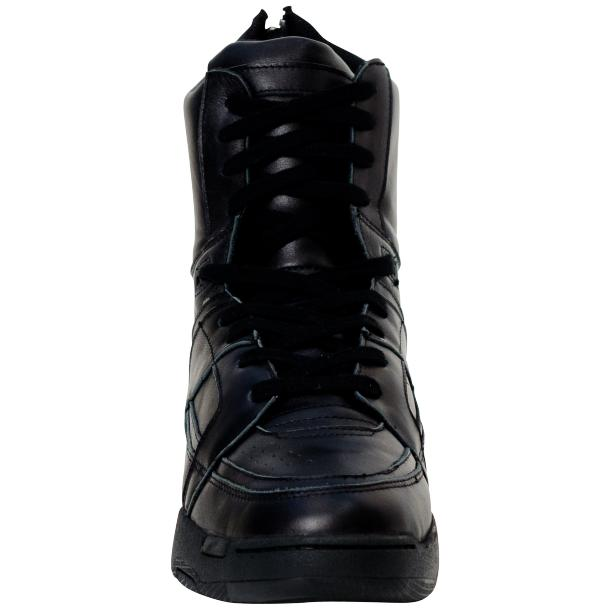 Rockstar Engine Black Nappa Leather High Top Sneakers thumb #3