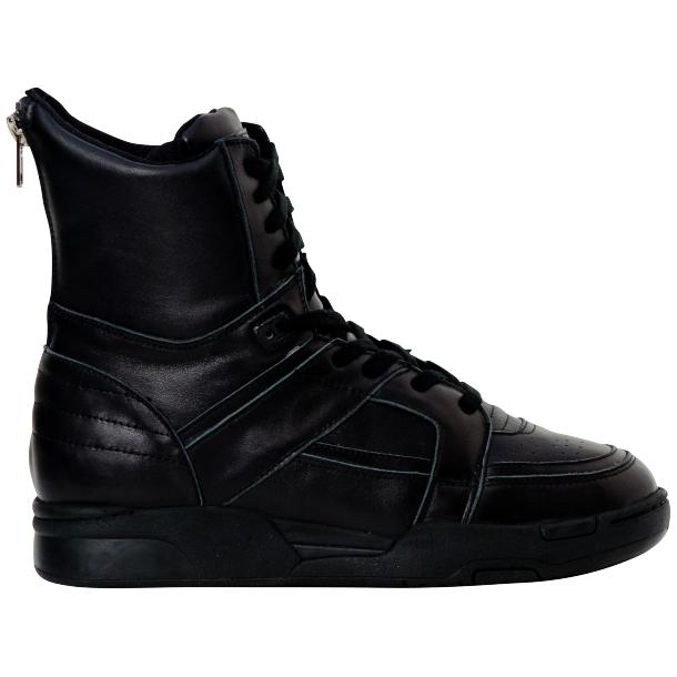 Roxanne Engine Black Nappa Leather High Top Sneakers thumb #4
