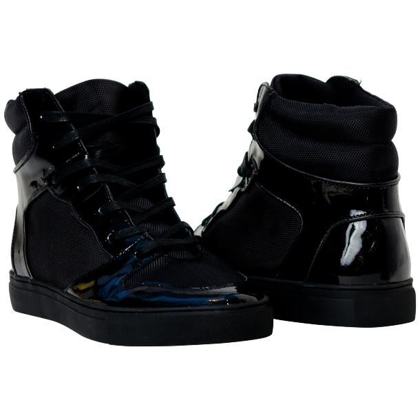 Fillmore Classic Engine Black Leather High Top Sneakers full-size #1