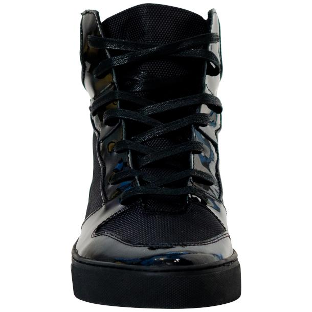 Fillmore Classic Engine Black Leather High Top Sneakers thumb #3
