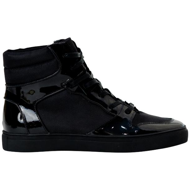 Fillmore Classic Engine Black Leather High Top Sneakers thumb #4