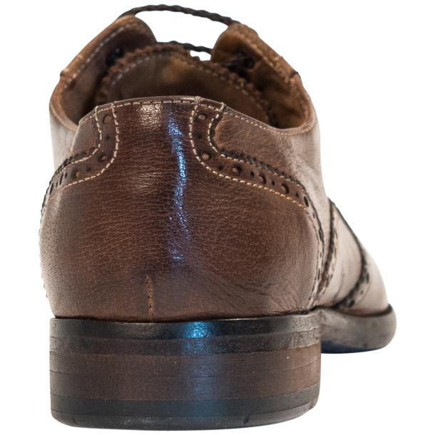 Ashley Dip Dyed Brown Leather Oxford Lace Up Wing Tips thumb #5
