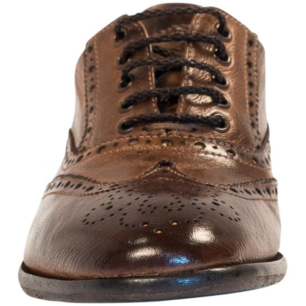 Ashley Dip Dyed Brown Leather Oxford Lace Up Wing Tips thumb #3