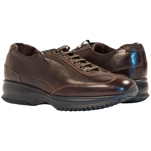 Fredo Dark Brown Nappa Leather Low Top Sneakers  full-size #1
