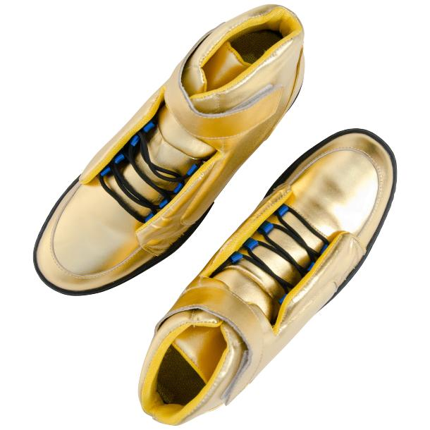 Jackson Gold Nappa Leather High Top Sneakers  thumb #2