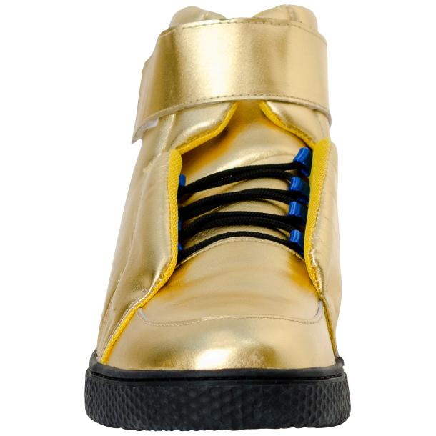 Jackson Gold Nappa Leather High Top Sneakers  thumb #3