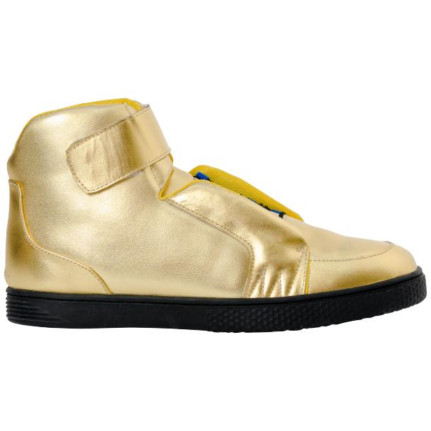 Jackson Gold Nappa Leather High Top Sneakers  thumb #4