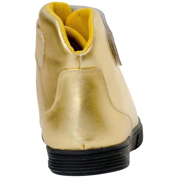 Jackson Gold Nappa Leather High Top Sneakers  thumb #5