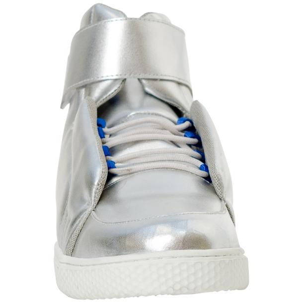 Jackson Silver Nappa Leather High Top Sneakers  thumb #3