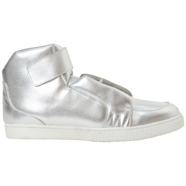 Jackson Silver Nappa Leather High Top Sneakers  thumb #4