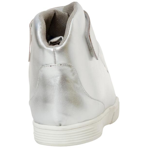 Jackson Silver Nappa Leather High Top Sneakers  thumb #5
