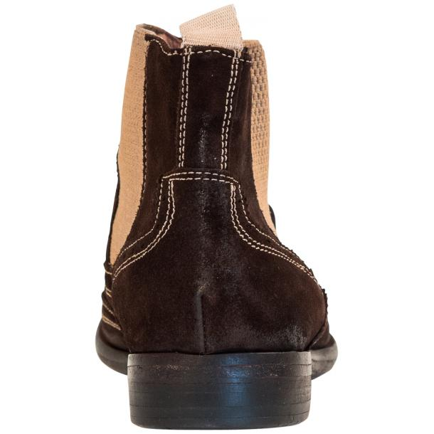 Leila Brown Suede Wing Tip Dip Dyed Chelsea Boot full-size #5