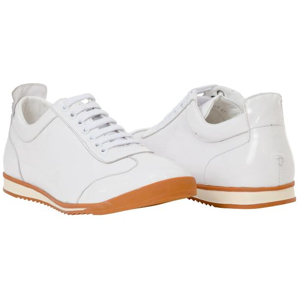 Bronson White Nappa Leather Low Top Sneakers thumb #1