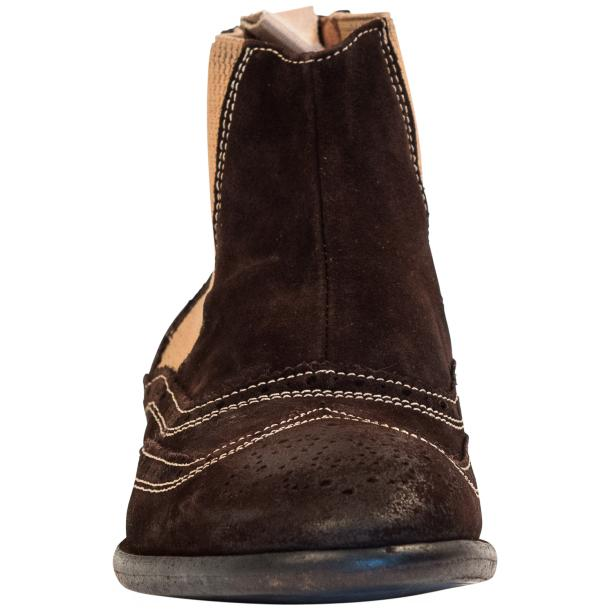 Leila Brown Suede Wing Tip Dip Dyed Chelsea Boot full-size #3
