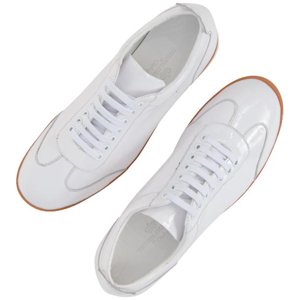 Bronson White Nappa Leather Low Top Sneakers full-size #2