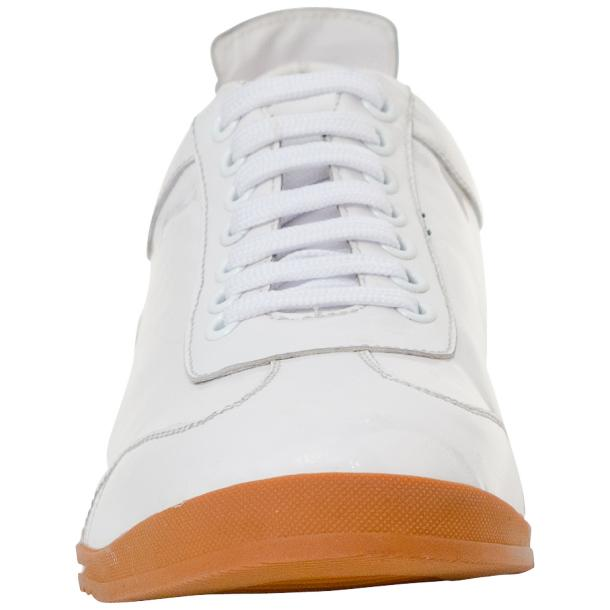Bronson White Nappa Leather Low Top Sneakers full-size #3