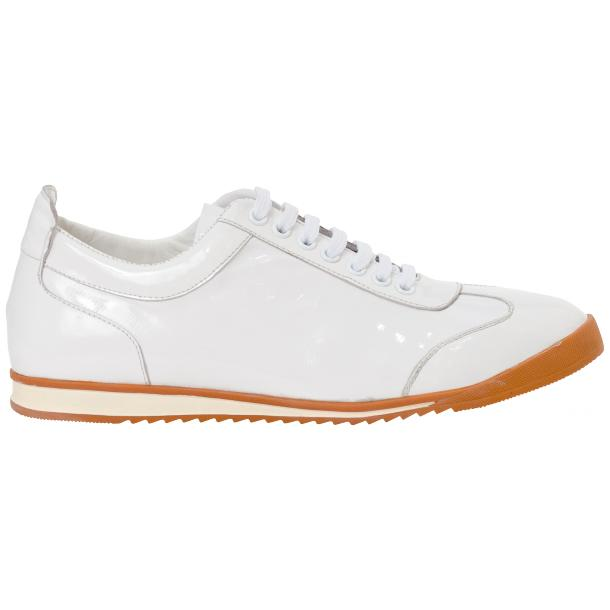 Bronson White Nappa Leather Low Top Sneakers full-size #4