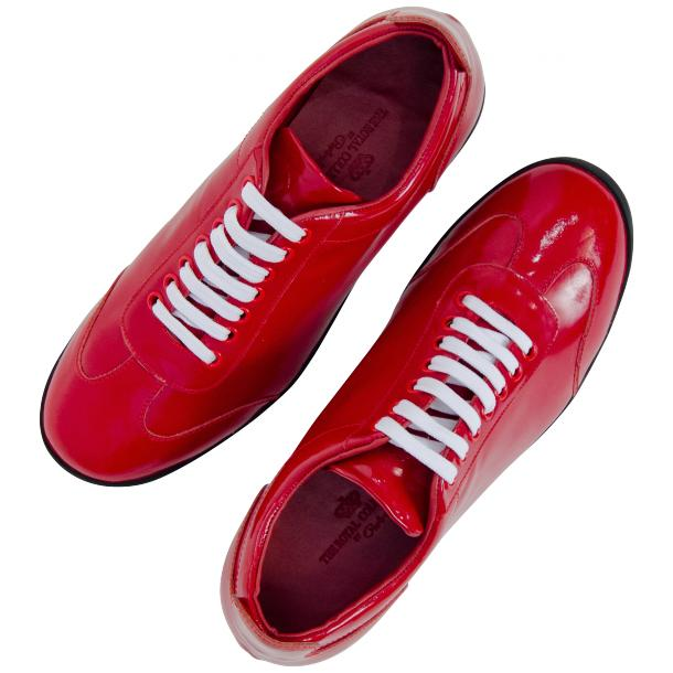Bronson Fire Red Nappa Leather Low Top Sneakers full-size #2