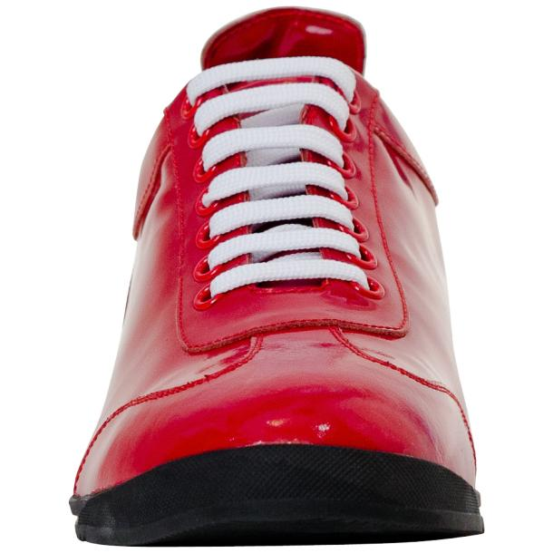 Bronson Fire Red Nappa Leather Low Top Sneakers full-size #3