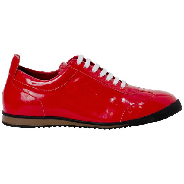 Bronson Fire Red Nappa Leather Low Top Sneakers full-size #4