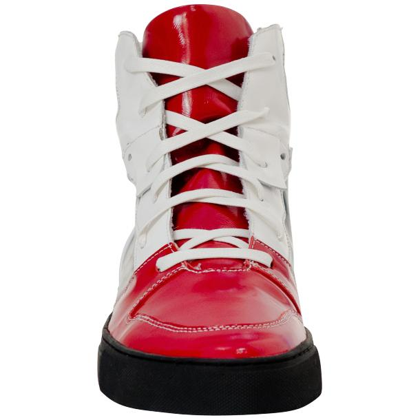 Celine Red Multi Color Patent Leather High Top Sneakers thumb #3