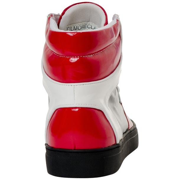 Celine Red Multi Color Patent Leather High Top Sneakers thumb #5